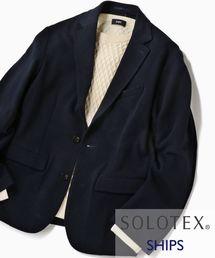 SHIPS(シップス)のSC:【WEB限定】SOLOTEX(R) ハイブリッド ジャージー セットアップ ジャケット(テーラードジャケット)