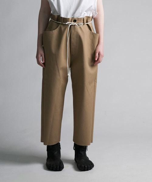 my beautiful landlet(マイビューティフルランドレット)の「【my beautiful landlet】 bonding chino wide pants(チノパンツ)」|ベージュ