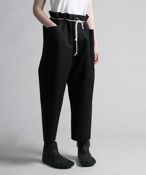 my beautiful landlet(マイビューティフルランドレット)の「【my beautiful landlet】 bonding chino wide pants(チノパンツ)」|ブラック