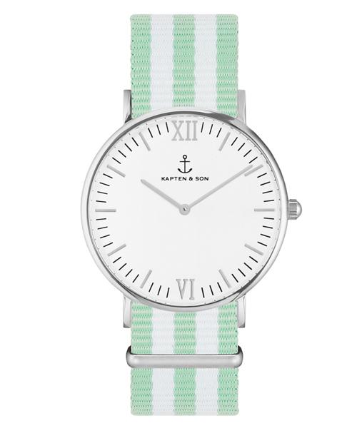 逆輸入 【セール】【KAPTEN&SON】シルバー 40mm ホワイト ナイロンバンド(腕時計) KAPTEN&SON(キャプテンアンドサン)のファッション通販, FONTANA(フォンターナ):2c8578ba --- pyme.pe