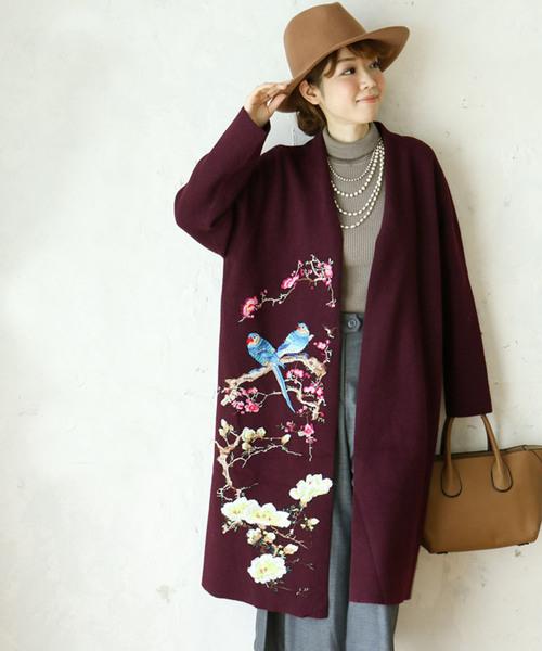 安いそれに目立つ 匠な鳥刺繍のリュクスな羽織り(チェスターコート)|cawaii(カワイイ)のファッション通販, 稗貫郡:5a655f20 --- blog.buypower.ng
