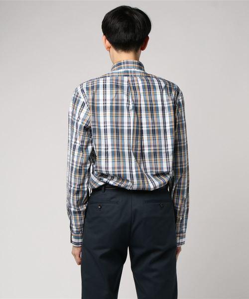 ノンアイロン GF マルチチェック ボタンダウンシャツ Regent Fit