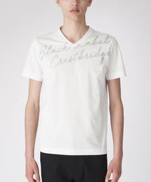 BLACK LABEL CRESTBRIDGE(ブラックレーベル・クレストブリッジ)のグリッターロゴプリントT(Tシャツ/カットソー)