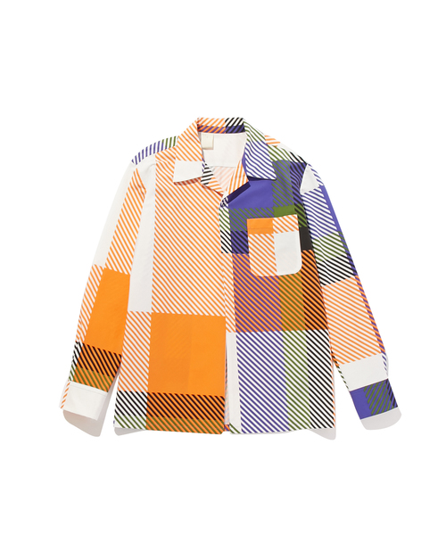 FALL2019 OPEN COLLAR SHIRT
