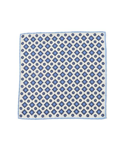 PAOLO ALBIZZATI / 小紋×ドット柄 ポケットチーフ
