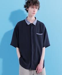 クレリックサマーシャツ(1/2 short sleeve)ネイビー