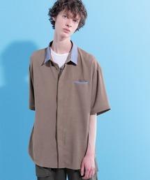 クレリックサマーシャツ(1/2 short sleeve)グレイッシュベージュ
