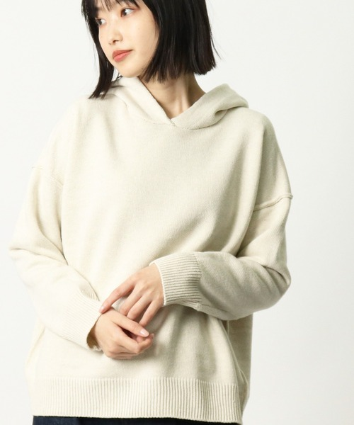 【 HEAVENLY 】 Wool Mix Pile Knit Parka   2061184