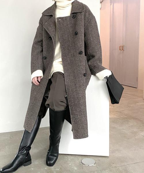 【chuclla】【2020/AW】Herringbone wool coat sb-2 cb-1 chw1371