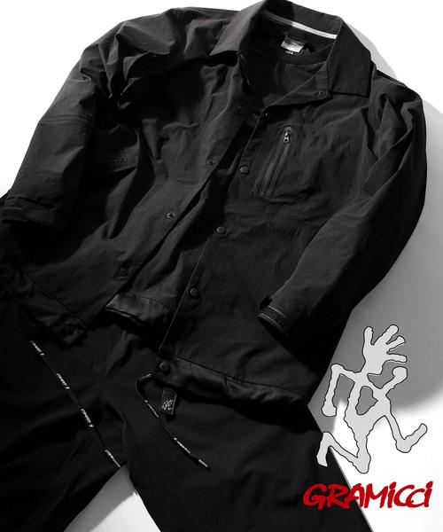 GRAMICCI (グラミチ)の「Gramicci BY SATOSHI YAMANE/グラミチ バイ サトシ ヤマネ 別注シームレステックシャツブルゾン(ブルゾン)」|ブラック