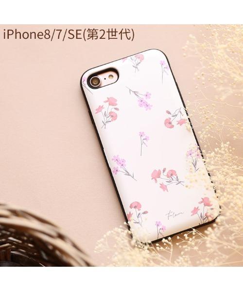 Hamee(ハミィ)の「iphone7 iphone8 iphoneX iPhoneXS ケース Latootoo カード収納型 ミラー付き iPhoneケース (花柄)(モバイルケース/カバー)」|ホワイト