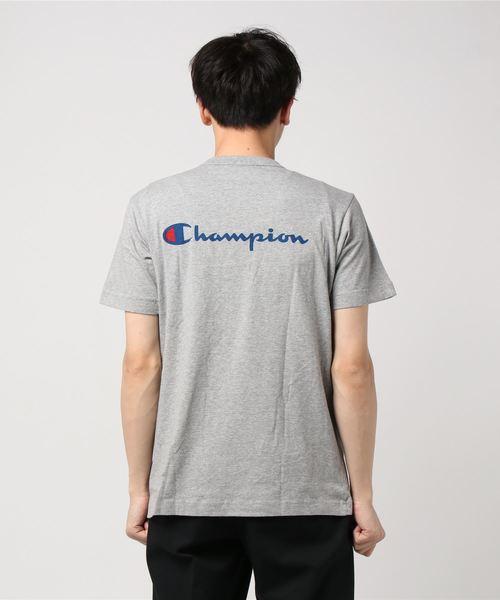 【CHAMPION】別注 バックスクリプトロゴTシャツ
