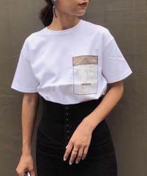 AMERI(アメリ)のTAG POCKET TEE(Tシャツ/カットソー)