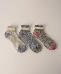 【お得な3足セット】クォータースラブラインソックス(靴下)