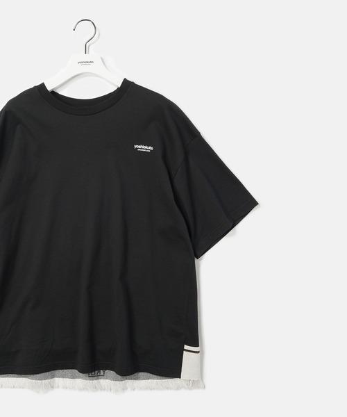 yoshiokubo(ヨシオクボ)の「yoshiokubo / ヨシオクボ FRINGE TAPE T-SHIRTS フリンジテープTシャツ / YKS20107(Tシャツ/カットソー)」|詳細画像