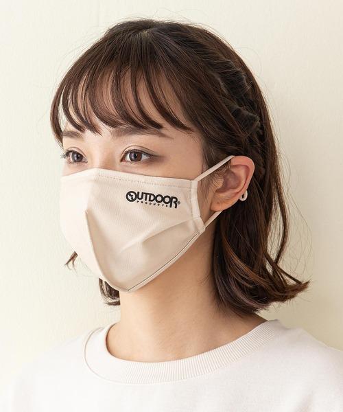 立体ロゴフェイスカバー 撥水素材  伸縮性素材 消臭効果 耳紐アジャスター付 ノーズワイヤー入り  男女兼用