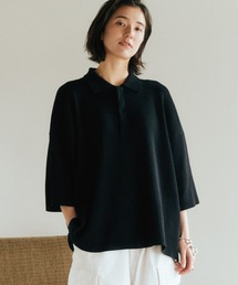 【WYM LIDNM】WIDE LOOSE RELAX KNIT POLO -Instagram Ex.-