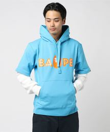 LAYERED MAD FACE WIDE PULLOVER HOODIE M(パーカー)