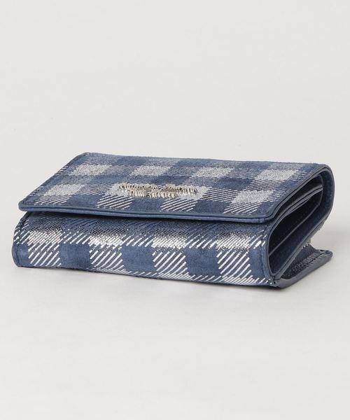 ピッグレザーチェックシリーズ ファスナー折財布