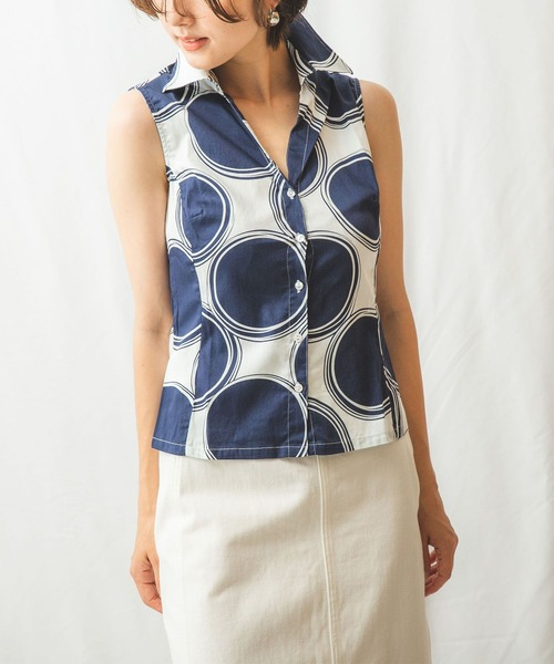 人気商品は 【セール】ラージドットノースリーブシャツ(シャツ/ブラウス) NARACAMICIE(ナラカミーチェ)のファッション通販, 上品な:ba4e6152 --- blog.buypower.ng