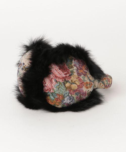 ファーxゴブラン織りゴブラン織りイヤマフラー 84916 SGTIT