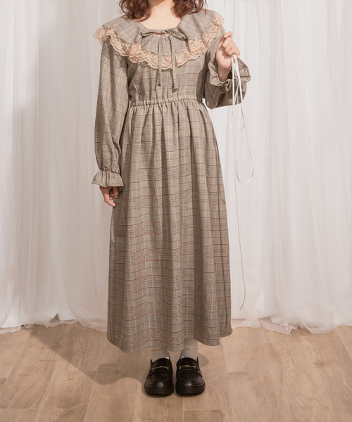 プラッドドレス