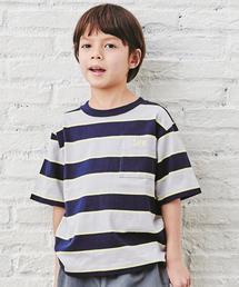 【キッズ】〔WEB限定〕LEE(リー)マルチボーダーTシャツ