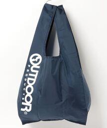 エコバッグ ショルダーバッグ 収納機能付き カラビナが付いているのでバッグにも取り付け可能ネイビー