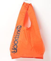 エコバッグ ショルダーバッグ 収納機能付き カラビナが付いているのでバッグにも取り付け可能オレンジ