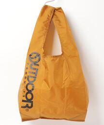 エコバッグ ショルダーバッグ 収納機能付き カラビナが付いているのでバッグにも取り付け可能マスタード