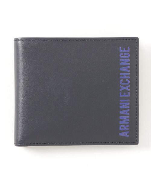 【A|Xアルマーニ エクスチェンジ】ロゴ 二つ折り財布(コインケース付)