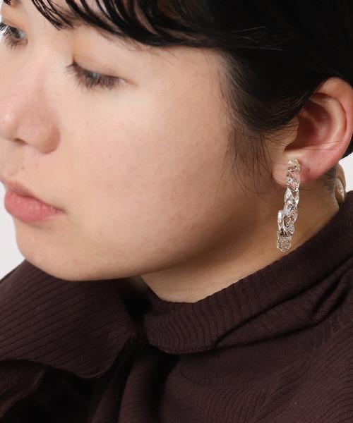 【 三丁目六番地Tokyo 】G型イヤリング (両耳) SR-021
