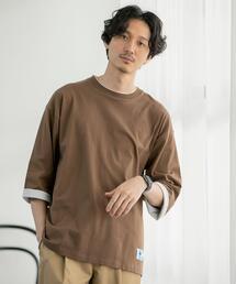 フェイクレイヤード7分袖Tシャツ