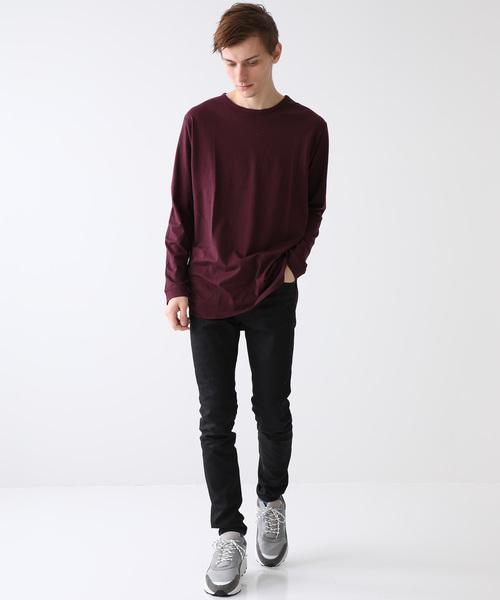 【VANQUISH】別注ドレープレーヨンレイヤードロングL/S Tシャツ