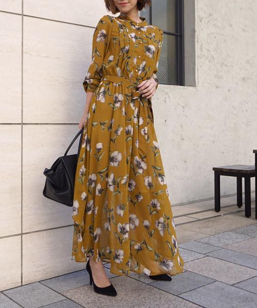 lily flower day dress