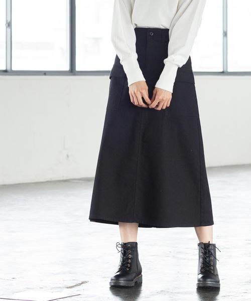 カツラギストレッチフレアスカート