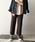 PICCIN(ピッチン)の「【WEB限定】リブニットワイドパンツ(パンツ)」 モカ