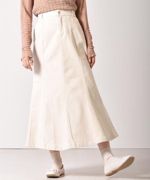 コットンマーメイドスカート