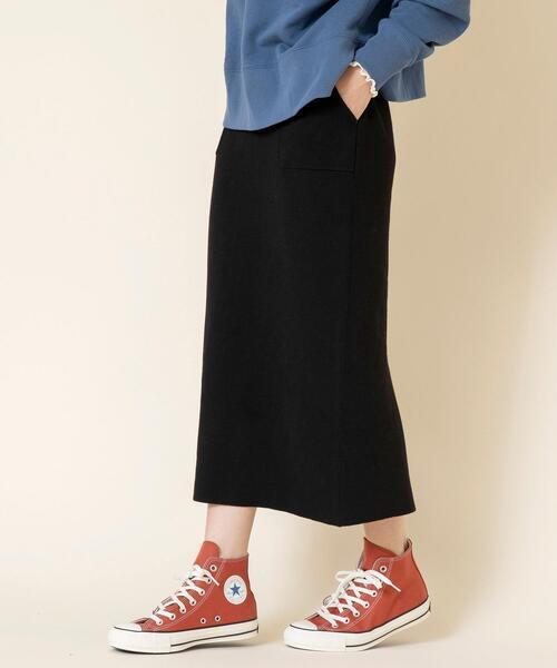 【セットアップ対応・静電気防止機能付き・WEB限定】ミラノリブニットスカート#