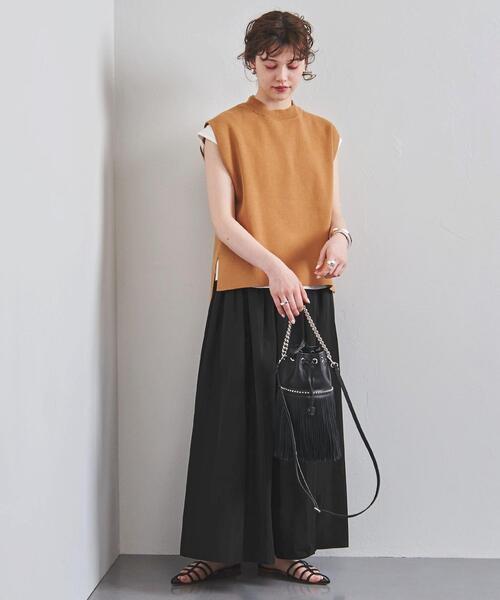 UWFM タフタ ギャザー スカート �A