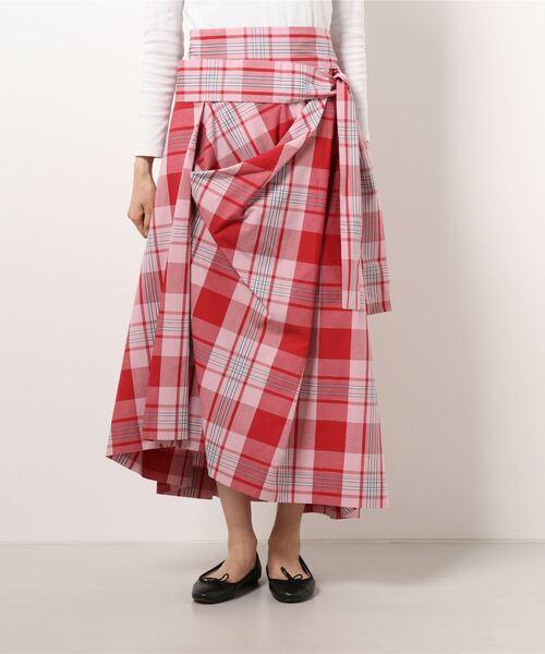 Vivienne Westwood(ヴィヴィアンウエストウッド)の「SUMMER CHECK スカート(スカート)」 レッド