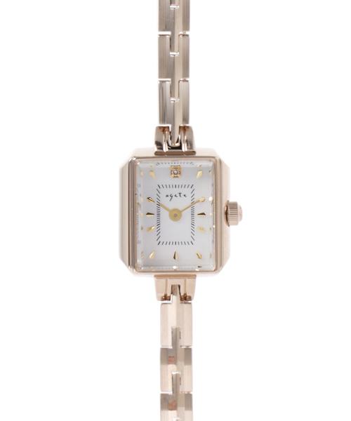 9d971d6a8c agete(アガット)の「スクエアフェイスジュエリーウォッチ 【AGETE15YG2時計】(腕時計