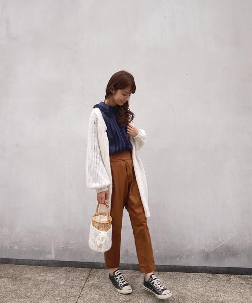 haupia(ハウピア)の「Chic and Boyish Style【 パンツ 】(チノパンツ)」 ブラウン