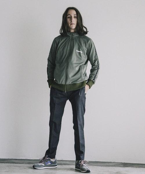 【The TWENTY SEVEN】PE PRINT RAGLAN SIDE TAPE TRUCK JKT:ポリエステル ロゴプリント サイドテープ トラックジャケット