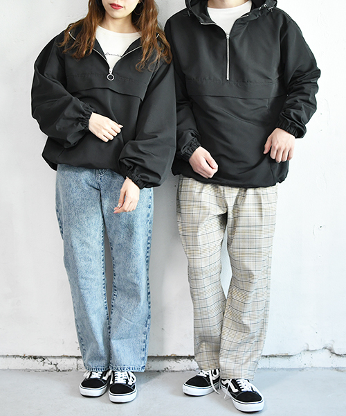 【ZOZO限定アイテム】袖ボリュームハーフジップマウンテンパーカー