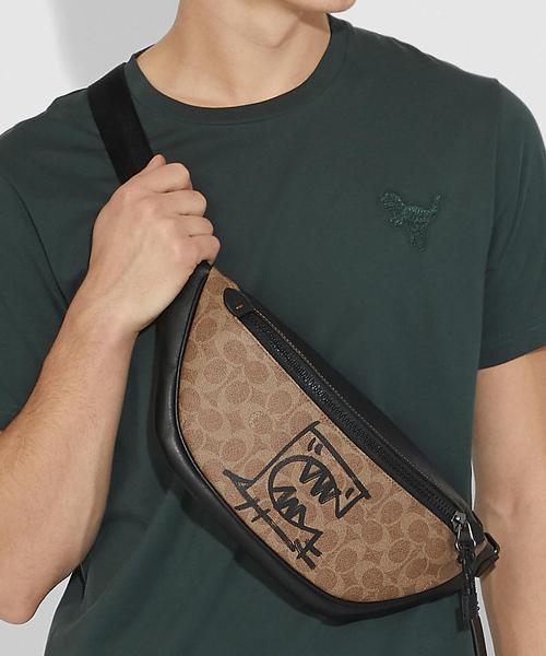 1960b7309acb COACH(コーチ)の【コーチ】リビングトン ベルト バッグ シグネチャー キャンバス ウィズ レキシー