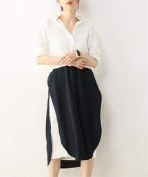 NOBLE(ノーブル)の*【ALANI the grey】レイヤードシャツドレス(ワンピース)