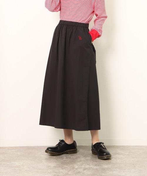 【 Le sans Pareil / ルサンパレイユ 】COTTON TYPEWRITER GATHER SKIRT コットンタイプライター ギャザースカート femme(レディース)