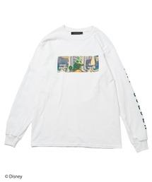 【Disney/ディズニー/塔の上のラプンツェル】ロングTシャツホワイト
