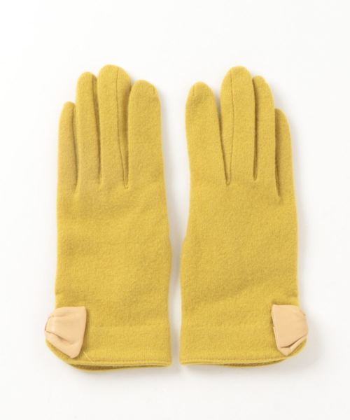 2ee972fdb9727 LOWELL things(ロウェル シングス)の☆トルヌ リボン付シンプルグローブ(手袋